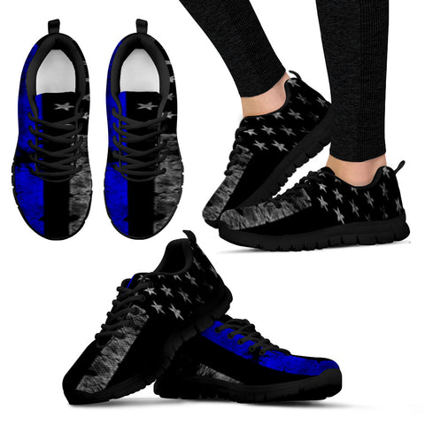 Thin Blue Line Police Support Women's Athletic Sneakers