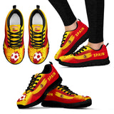 Spain World Cup Soccer Sneakers for Men and Women