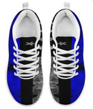 Thin Blue Line Police Support Men's Athletic Sneakers