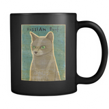 Russian Blue Cat - Black Mug