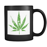 One Leaf Black Mug - Muggalicious