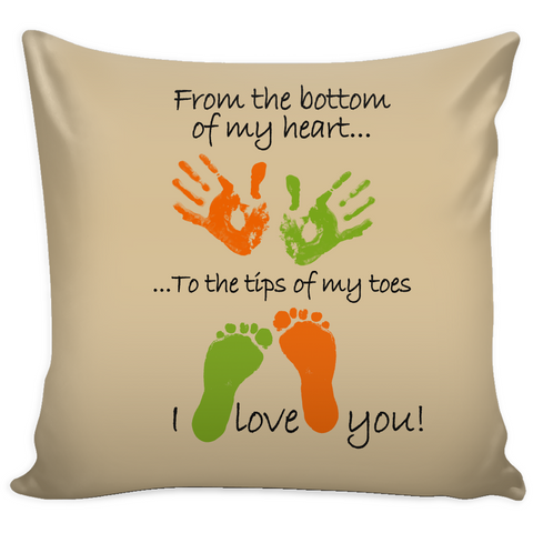 Tips of My Toes - Pillow Cover - Muggalicious
