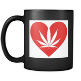 Love the Leaf with All Your Heart - Black Mug - Muggalicious