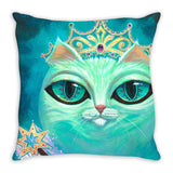 Queen Cat Throw Pillows - Muggalicious