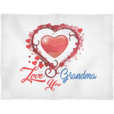 Love You Grandma - Fleece Blanket