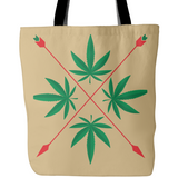 Weed Herbal Crest Design - Tote Bags - Muggalicious