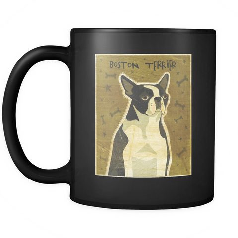 Boston Terrier - Black Mug - Muggalicious