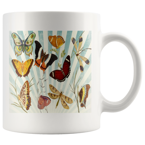 Butterfly Collage Classic White Mug - Muggalicious