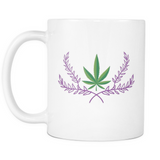 Marijuana Crown - White Mug - Muggalicious