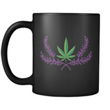 Marijuana Crown - Black Mug - Muggalicious