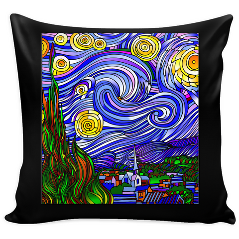 Starry Nights Interpreted - Pillow Covers - Muggalicious