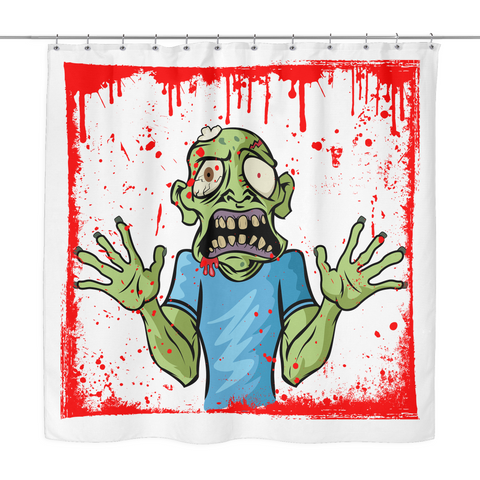 Bloody Zombie - Run for Your Life Shower Curtain 0b5c0e0cb0a5e