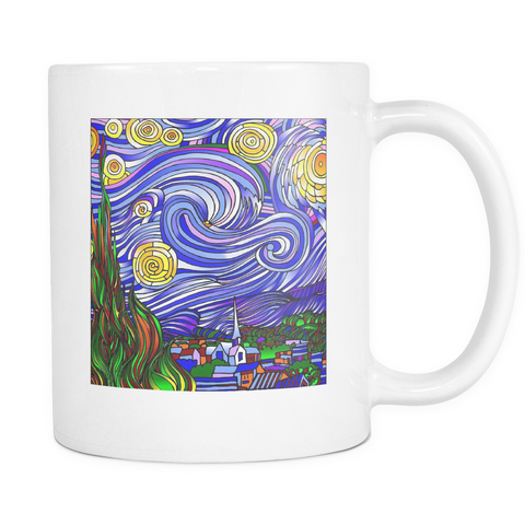 Starry Nights Interpreted - White Mug