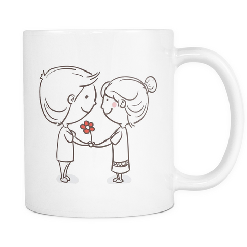 LOVE Makes Us Smile Mug