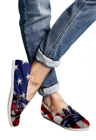 "American Flag Women's ""Toms Style"" Casual Shoes - Muggalicious"