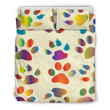 Colorful Paws Walk All Over Me Duvet and Pillow Cover Set - Muggalicious