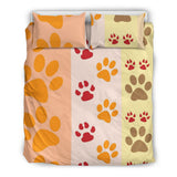 Paws and Stripes Duvet and Pillow Cover Set - Muggalicious