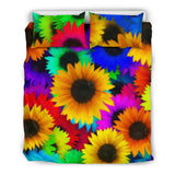 Sunflowers Bright & Cheerful Duvet & Pillow Cover Set