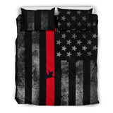 Thin Red Line Firefighter Support Duvet and Pillow Cover Set