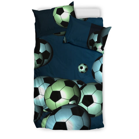 Floating Soccer Balls in the Sky Duvet & Pillow Cover Set - Muggalicious