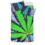 Berry Jane Marijuana Leaf Duvet & Pillow Set - Muggalicious