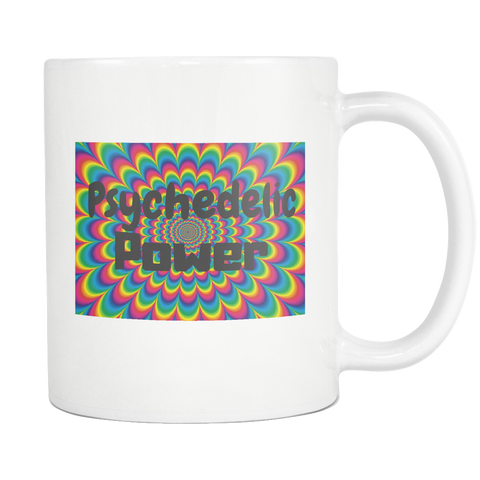 Psychedelic Power Hippie Design White Mug - Muggalicious