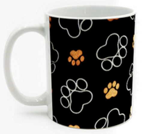 Paws All Over Me Full-wrap Mug - Muggalicious