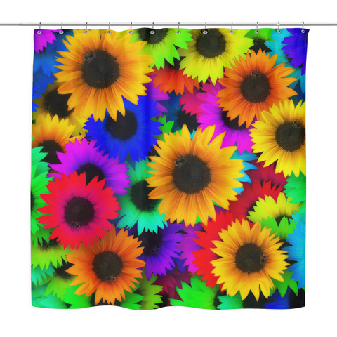 Sunflowers Bright, Bold and Cheerful Shower Curtain