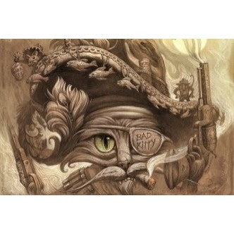Pirates of the Caribbean Cat - Wall Canvas - Muggalicious