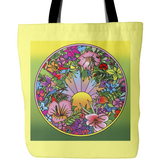 Pop Art Flower Circle - Tote Bags - Muggalicious