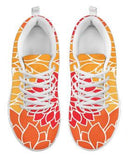 Chrysanthemum - Tangerine Women's Black or White Sole Sneakers