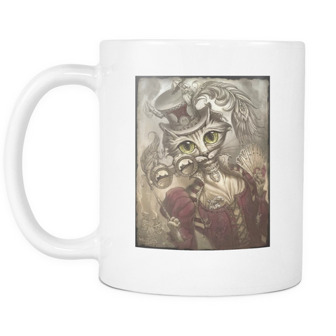 Ms. Steampunk Cat Mug - Muggalicious