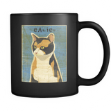 Calico Cat - Black Mug