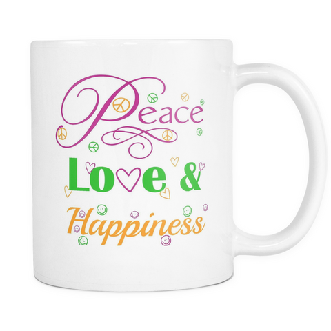 Peace, Love & Happiness Mug