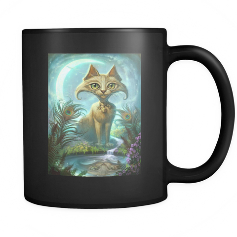 Reflections of Narcissus - Black Mug - Muggalicious