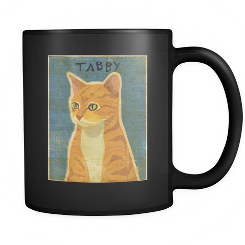 Orange Tabby Cat - Black Mug - Muggalicious