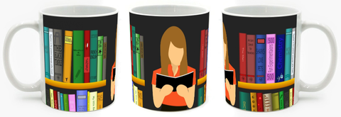 Library Girl Full-wrap Mug - Muggalicious