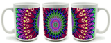 Retro Hippie Mandala Design Mug