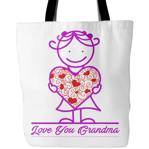 Love Grandma's Big Heart - Tote Bags