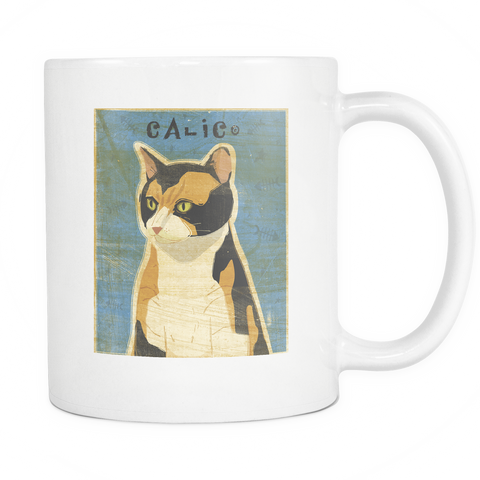 Calico Cat - White Mug - Muggalicious