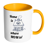 Home Is Where MOM Is - Accent Mugs - Muggalicious