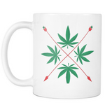 Weed Herbal Crest Design - White Mug - Muggalicious