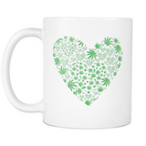 Love the Leaf White Mug - Muggalicious