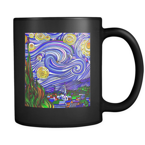 Starry Nights Interpreted - Black Mug