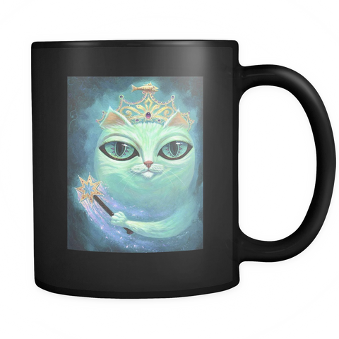Queen Cat Mug - Black - Muggalicious