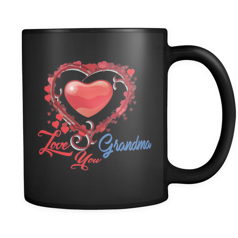 Love You Grandma - Black Mug - Muggalicious