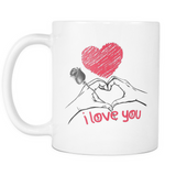 Two Hearts and a Rose Mug
