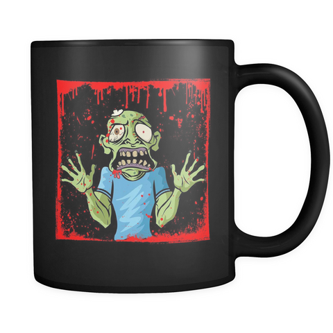 Zombies - Get Your Coffee & Run! Black Mug