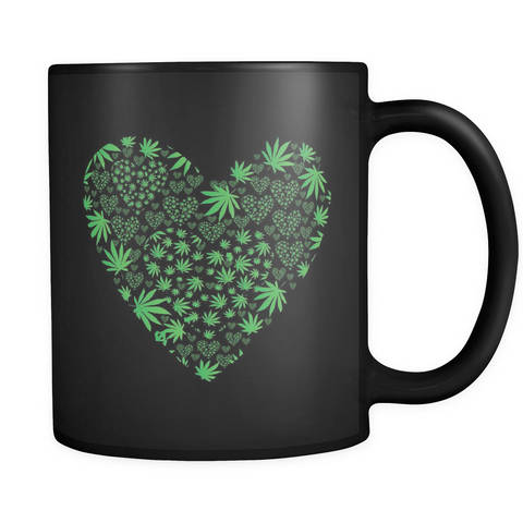 Love the Leaf - Black Mug - Muggalicious