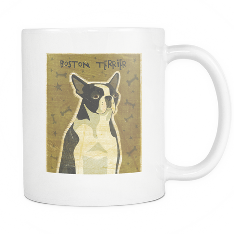 Boston Terrier - White Mug - Muggalicious